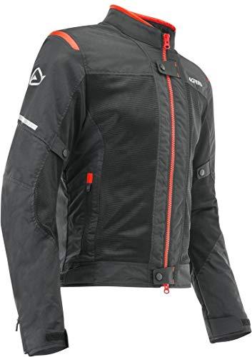 Acerbis RAMSEY MY VENTED 2.0 - Chaqueta (talla XL), color negro y rojo