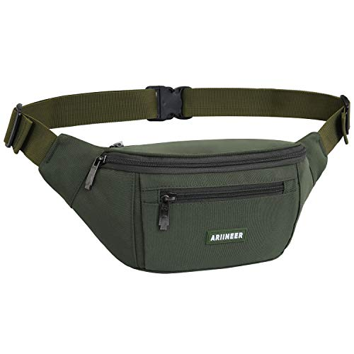 Ariineer Waterproof Bumbags and Fanny Packs for Women Men Hiking Waist Packs Waist Bag for...