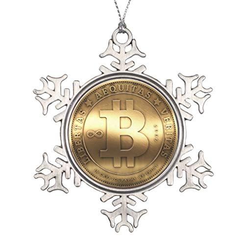 Bitcoin Logo Symbol Gold Crypto Christmas Hanging Decoration Ornament Special Keepsake Art Display - 3