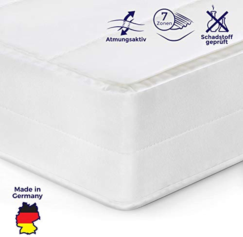 Mister Sandman orthopdische 7-Zonen-Matratze für besseren Schlaf- Kaltschaummatratze H2 H3 mit ergonomischen Liegezonen, Hhe 15cm (180x200 cm, H3)