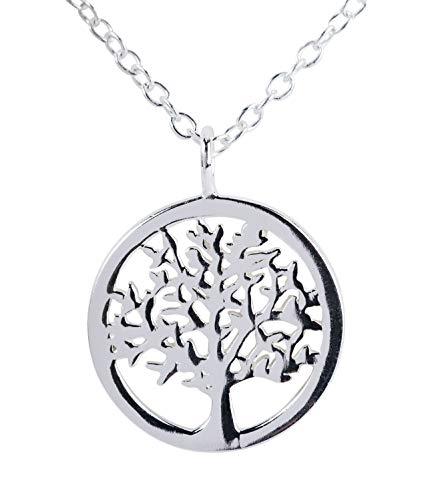 Seis unidades Collar de plata de ley 925 con colgante diseñado en forma de árbol de la vida (386-350)
