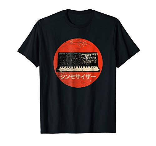 Vintage Analog Synthesizer Japanese Text T-shirt for Adults, Kids, S to 3XL