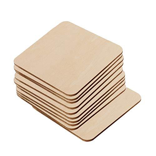 LIOOBO 20 stücke Holz Untersetzer Holzscheiben zum Bemalen und Basteln Holz Streudeko Mittelstücke für Rustikale Hochzeit Tischdeko DIY Handwerk (80mm)