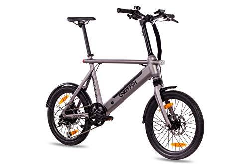 "Chrisson 20ERTOSSILVER Bicicleta Electrica de 20"" Plateada, Unisex-Adult, Normal"