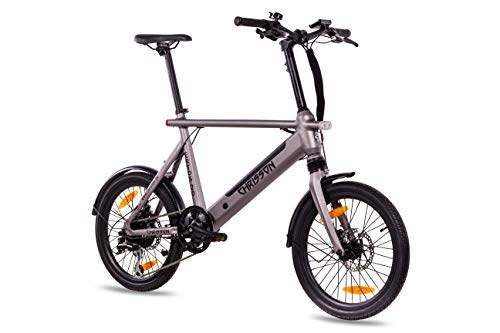 Chrisson 20ERTOSSILVER Bicicleta Electrica de 20' Plateada, Unisex-Adult, Normal