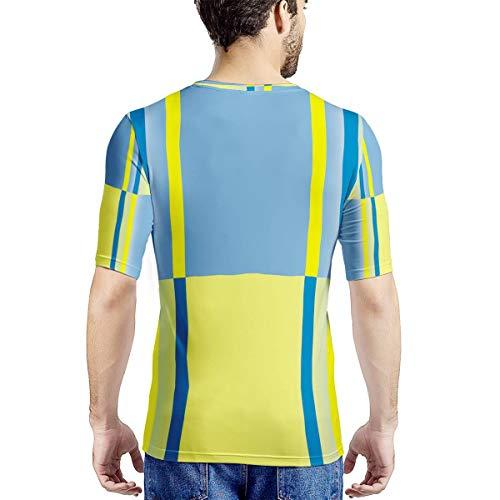 Banana Blue Camiseta de Hombre con Estampado Completo Algodón Top Transpirable de Manga Corta de Verano para reunirse