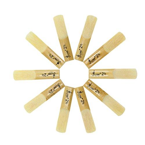 GESUND 10pcs 2.5 2-1/2 Bambus Sopran Saxophon Blätter Set für Saxophon Sax Zubehörteil