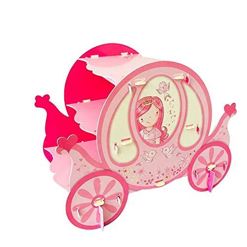 PETAAA Soporte De La Magdalena De La Fiesta De Cumpleaños De Los Niños, Pequeño Caballo Y Pink Pequeña Princesa Postre Pastel De Pastel De Pastel De Pastel De Papel(Color:A)