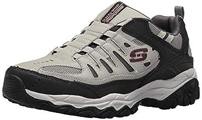 Skechers Sport Men's Afterburn Extra Wide Fit Wonted Loafer,gray/black,9 4E US