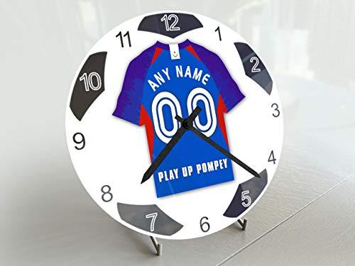 FanPlastic EFL League One Kleine Fußball-Uhr – Design mit Sockel !, Portsmouth FC