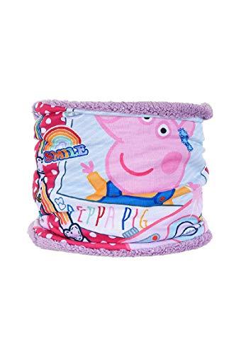 Peppa Wutz Pig Kinder Schal Schlauchschal Loop Snood, Farbe:Lila