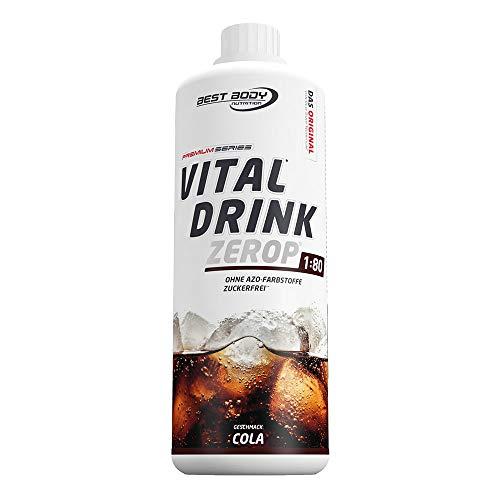 Best Body Nutrition Vital Drink Cola, zuckerfreies Getränkekonzentrat, 1:80 ergibt 80 Liter Fertiggetränk, 1000 ml