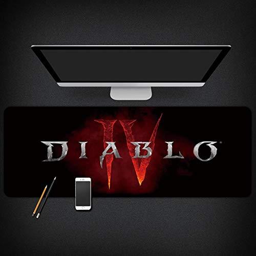 Tapis de souris de jeu Diablo 4 grands tapis de souris pour le bureau, la maison, imperméable et antidérapant (couleur : C, taille : 900 x 400 x 3 mm)