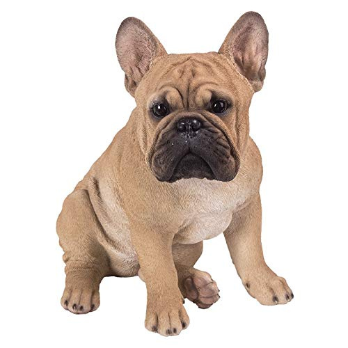 Pacific Giftware Realistic French Bulldog Statue Glass Eyes Statue Home Decor
