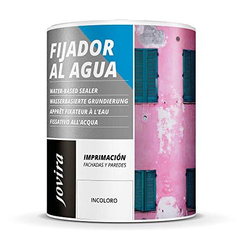 IMPRIMACION FIJADOR AL AGUA, sellante incolora para fachadas y paredes interior (750 ml, INCOLORO)