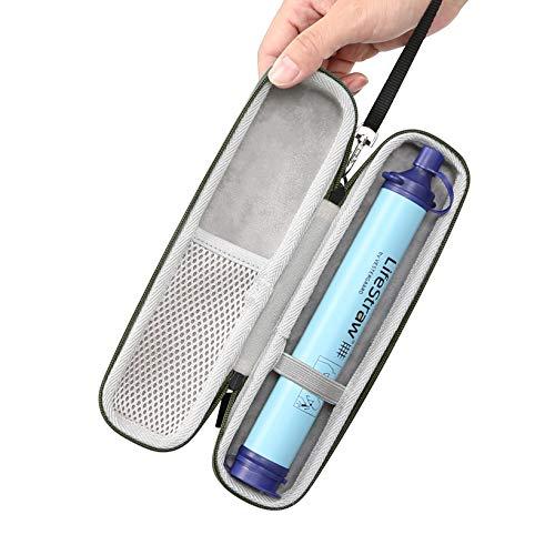 YSAGi Reise Tragekoffer Abdeckung, Aufbewahrungskoffer für Stahl Persönlichen Wasserfilter, Abwasserreinigung Reißverschluss Schutztaschen Koffer NUR (Armee grün)