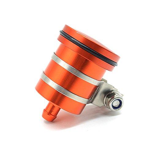 Universal Motorrad Bremsflüssigkeitsbehälter Öl Tasse für Duke 125 200 390 690 RC 125 200 390 EXC SX XC 125 150 200 250 300 350 400 450 1050 1090 1190 1290 Adventure (Orange)