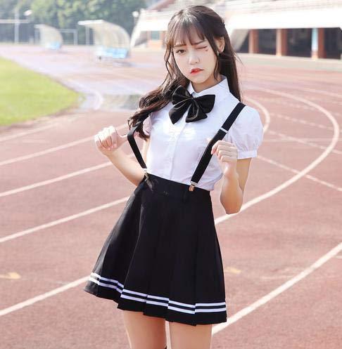 CLJ-LJ Schuluniform-Set Student Uniform Krawatte Matrosen Anzug Set JK Uniform Kostüm Japanische Schuluniform Mädchen Süß Cosplay (Farbe: Farbe3 Ein Set, Größe: S)