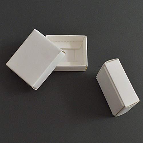 Lot de 10 Grandes boîtes Cadeau en Carton Kraft avec Couvercle Noir/Blanc, White Color, 21x15x5cm