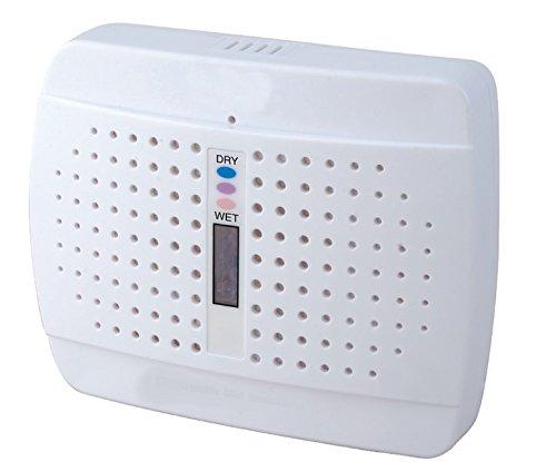 Mobiler Mini Luftentfeuchter ETD100A mit Naturgranulat Silikagel. Mit 230V-Ladefunktion