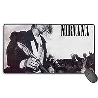 新品 ニルヴァーナ Nirvana 12 人気 マウスパッド 大型 ゲーミング デスクマット Pcマット ゲーミングマウスパッド 防水 滑り止ブルクロス75×40サイズ