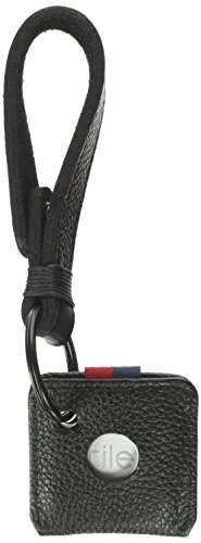 Herschel Key Chain + Tile, black, One Size