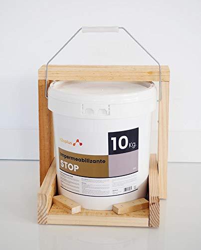 Revestimiento Elástico Impermeabilizante Stop · Pintura para Impermeabilizar parámetros horizontales en Terrazas, Azoteas, Balcones y Tejados · Color Gris · 10KG (8,3 L) · Promoción Especial D