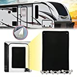 3-Layer RV Door Window Shade Blackout Cover Shade RV Entry Door Window Sunshade Motorhome Privacy Canvas Sun Blackout 16' x 24', 12 Screws Included
