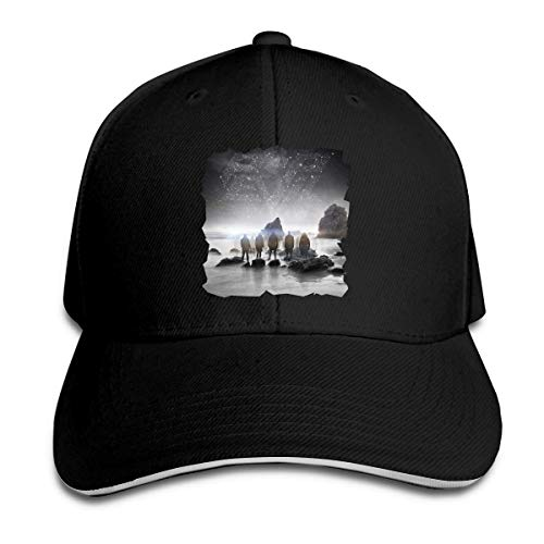 Nigmfgvnr Adult Pop Evil UP Sandwich Baseball Hat Adjustable Trucker Snapback Hat Black 381