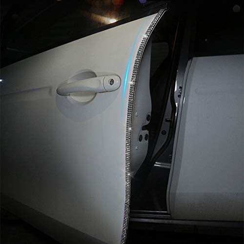 eing Door Edge Anti-Scratch Sticker Door Crash Bumper Crystal Bling Protection Tape Rubber Strip Sticker,Car Door Protector,Car Door Guard,Car Door Protection,90cm/35.4' Each One,4Pack/Set,Pure White