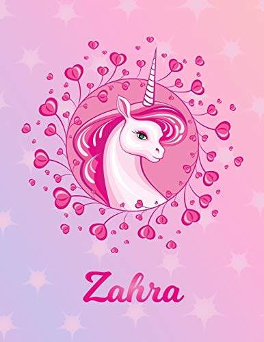 Zahra: Unicorn Sheet Music Note Manuscript Notebook Paper – Magical Horse Personalized Letter Z Initial Custom First Name Cover – Musician Composer … Notepad Notation Guide – Compose Write Songs