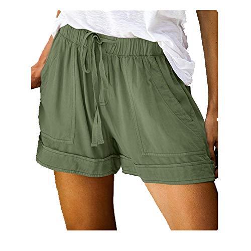 N\P Mujer Pantalones Cortos Bolsillos Verano Pantalón De Las Señoras