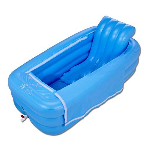 Lilongjiao Niños Adultos Tina de baño Bañera Plegable Caliente Bañera Inflable Acolchado...