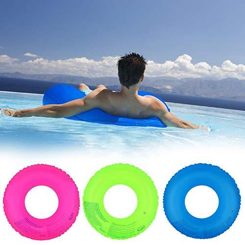 ASDFG Verano Fluorescente Inflable Anillo Natación Círculo Piscina Flota Ruedas de Natación Para Adultos Deportes de Agua