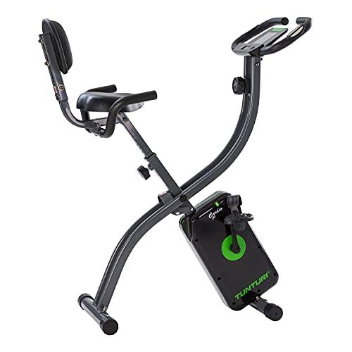 Tunturi Cardio Fit B25 X-Bike Bicicleta estatica / bici estatica / bicicleta fija / plegable, con computadora de Entrenamiento, medidor de pulso y Respaldo