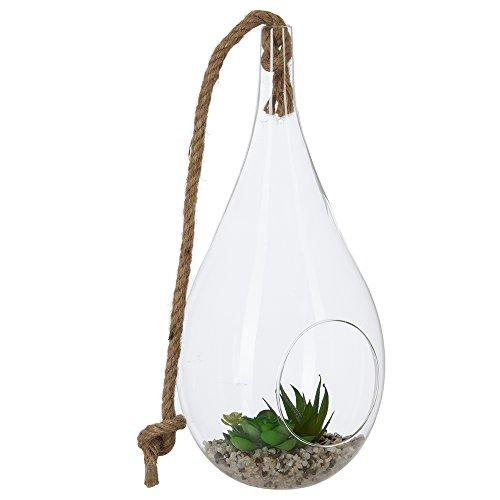 Maison Futée - Boule en verre et plantes artificielles - H 32 cm