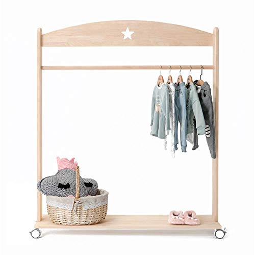 CENPEN Perchero de ropa para sala de estar, balcón, organizador compacto para guardar ropa de vestir, para dormitorio, lavandería (color: color, tamaño: 160 x 120 x 30 cm)