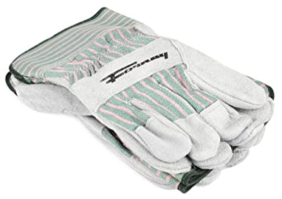 Forney Cowhide Leather Palm Men's Work Gloves, 3-Pack