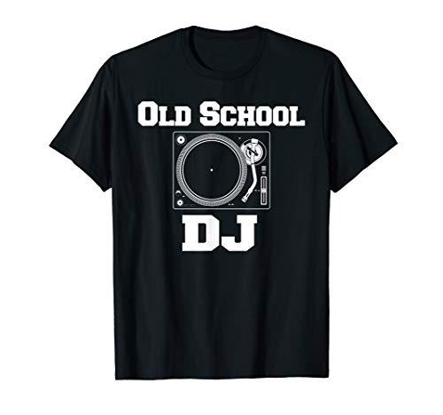 Old School DJ Turntable Vinyl Record Deck Scratch Gift Idea T-Shirt