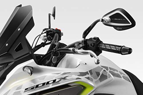 CB500X 2019 - Kit Espejos  Police  Evo (R-0913) - Homologados - Retrovisores Laterales Manillar - Aluminio - Accesorios De Pretto Moto (DPM Race) - 100% Made in Italy