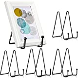 5 Pieces Display Stands Plate Metal Holder Display Stand for Decorative Plate Dish and Tabletop Art, Painted Tiles, Commemorative Tablet, Photo Frames, Postcards, Pictures, Book, Canvas (6 Inch)