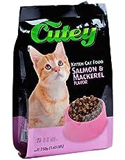 كيوتي اكل قطط سالمون مكريل كوتي دراي ، 750 جم