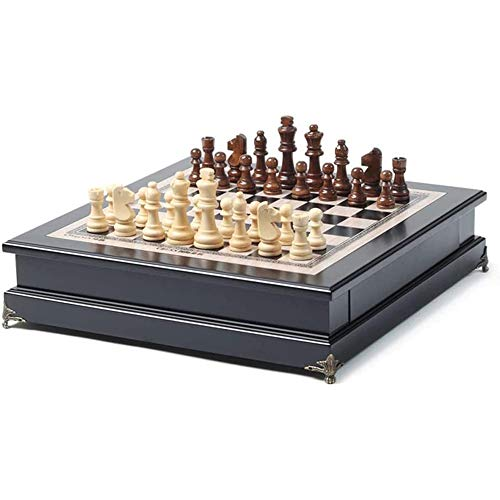 HIZLJJ Los juguetes de gama alta Computer Chess -Chess Conjunto plegable magnética de plástico Juego de mesa for niños portátiles sólido de ajedrez de madera Tamaño del juego for adultos decoración de