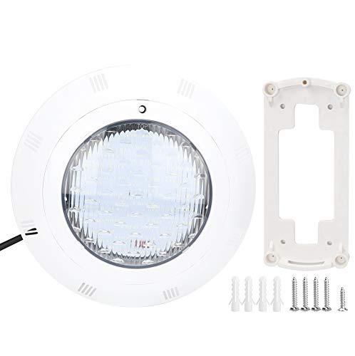 Luz LED RGB para piscina, 23 A, 12 V, CA, 12 V, compatible con piscina, foco ABS (blanco)