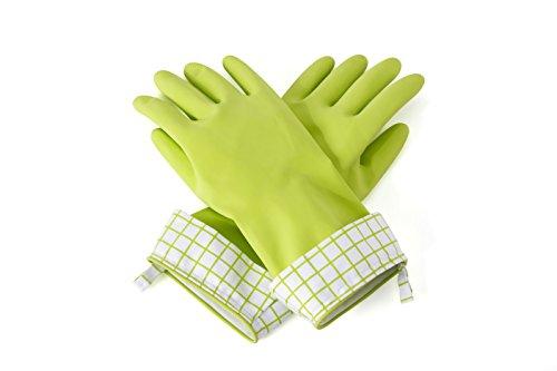 Full Circle Splash Patrol Natural Latex Cleaning and Dish Gloves, Medium/Large, Green