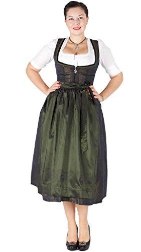 15944 Wenger Dirndl Jody 80er grün 89 Size 38