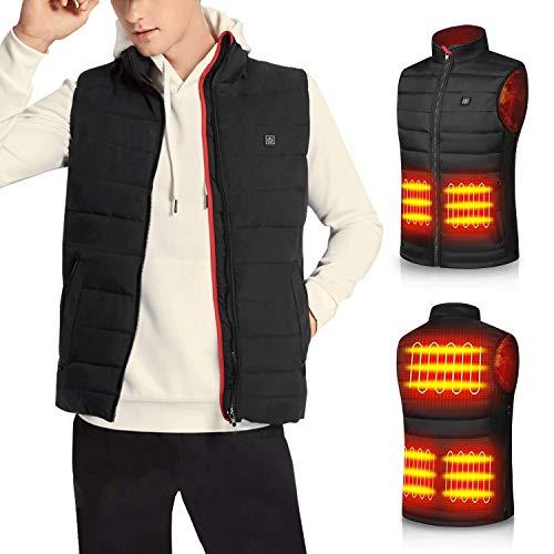 Heated Vest for Men Women Winter Heating battery jacket coat for Outdoor Fishing(XXL)
