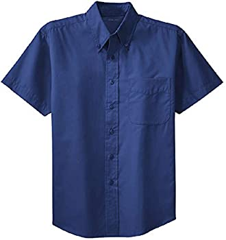 Joe s USA Men s Short Sleeve Wrinkle Resistant Shirts-2XL-Mediterranean Blue