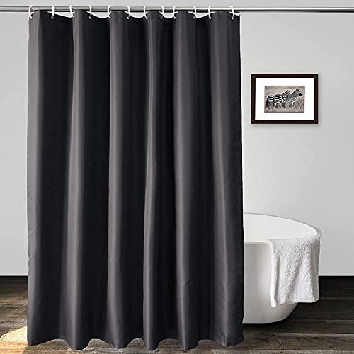 Wasserdichter Duschvorhang Schwarz 180 * 180cm Parkarma PEVA Waschbarer Badevorhang mit Verstärktem Saum Mehltausicherer Duschvorhang mit 12 Haken