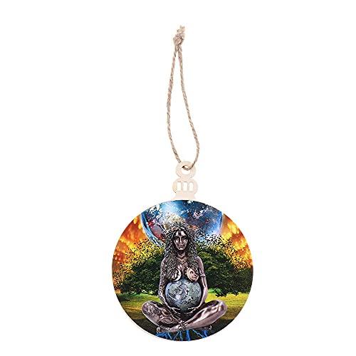 Decoración casera caliente Día de la Madre Estatua Gaia de madera Estatua de la Madre Tierra Estatua Colgante de jardín (A-2)
